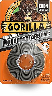 GORILLA GLUE 1.5 m Heavy Duty Double Sided Waterproof Mounting Tape - BLACK