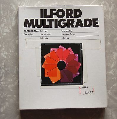 "ILFORD Multigrade Filter Set 10 LARGER 6"" DAMAGED Square Contrast Control Gels"