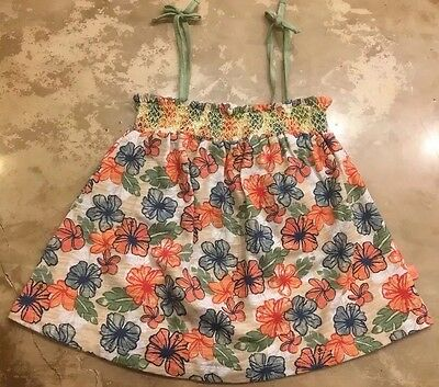 ROXY Girls Floral Baby Doll Halter Tank Top Shirt Kids Size 6 NEW
