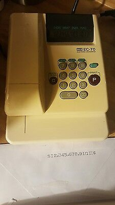 MAX EC-70 Electronic Check Writer.