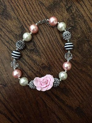 pink gumball chunnky necklace
