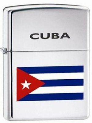 "Zippo ""Cuba - Cuban - Cubian Flag"" High Polish Chrome Lighter (Ltd. Production)"