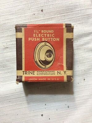 "New! VINTAGE TRINE 1 3/4"" ELECTRIC PUSH BUTTON DOOR BELL"