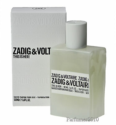 Zadig & Voltaire This is her 50ml Eau de Parfum EDP Neu & Originalverpackt