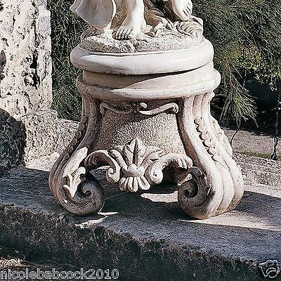 Column Pedestal Plinth Rocco Architectural Antique Style Roman Greek Large  Base