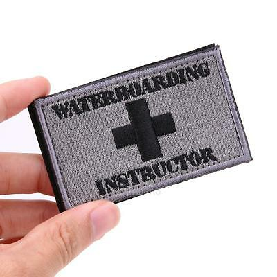 NEW Waterboarding Instructor Patch Tactical Funny Hook & Loop Embroidered US