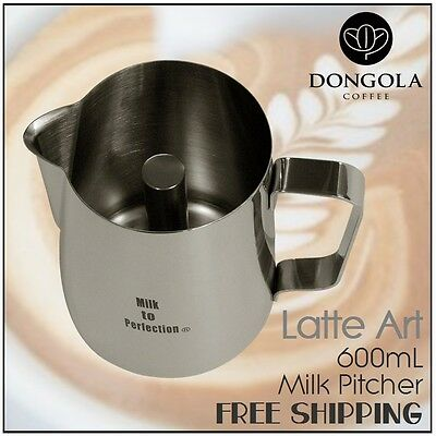 Milk to Perfection Latte Art 600mL Milk Frothing Pitcher Jug Stainless Steel