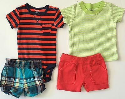 Carter's Baby Boy Lot Of 4 Spring Summer Outfit Pieces Size Newborn 3 Months EUC