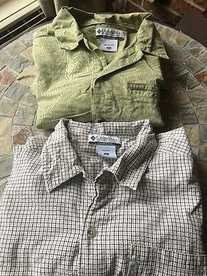 Lot Of 2 Mens Columbia Button Up Shirts Size Medium
