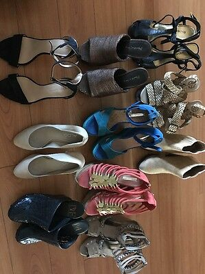 Designer Women's Lot Of Shoes Size 7 New And Used