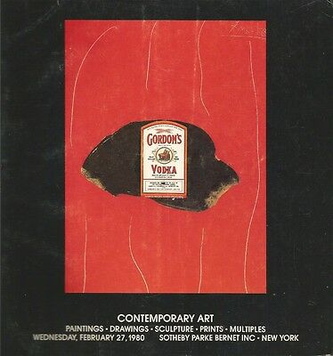Sotheby Catalog 1980 Contemporary Art w/ Sales Results Paintings Drawings Sculpt