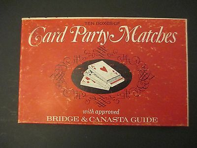Vintage 60s Box of 10 Playing Card Party Matches Matchbooks
