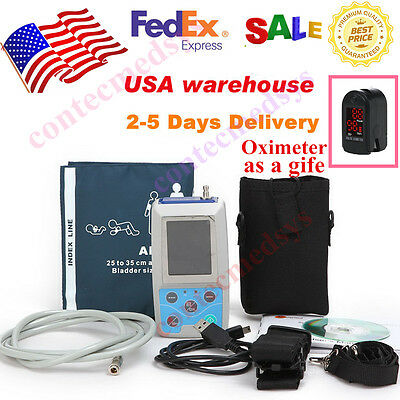 US  seller Ambulatory Blood Pressure Monitor+Software 24h NIBP Holter , ABPM50