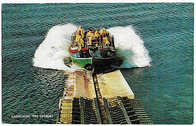 Vintage Postcard.  Launching The Lifeboat.  Unused.   Ref:73343