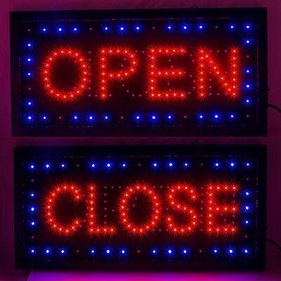 """Bright LED Open& Closed Store Shop Business Sign 9.8*18.9"""" Display neon Carejoy"""