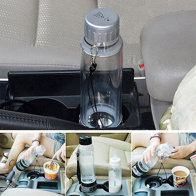 Car Electric Cup Heating Water Bottle 75W 280ml Thermos Portable Traveling Cup