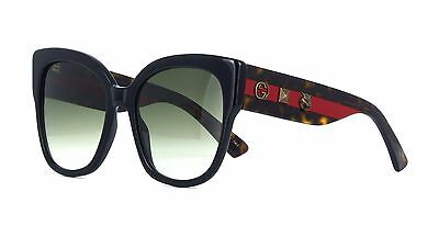 Gucci GG0059S black havana/green shaded (001 O) Sunglasses