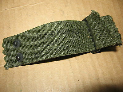 US M1 helmet liner nape strap.  Two piece, post WW2.