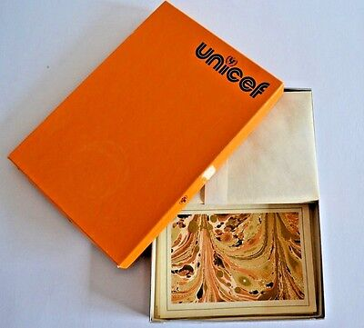 Vintage UNICEF Stationery Paper Greeting Cards Envelopes & Box 1979 USA