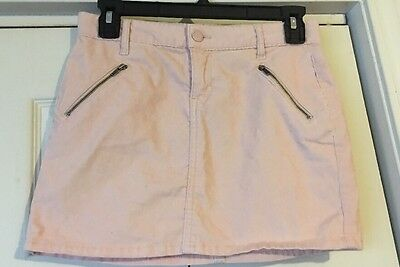 Girls Size 14 Gap Kids Wispy Pink Corduroy Zippered Skirt
