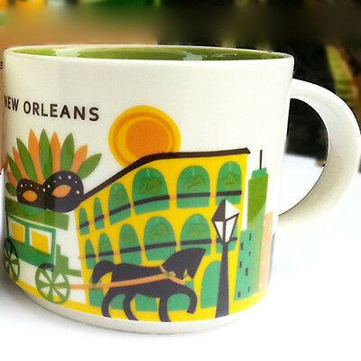 14oz Starbucks New Orleans You Are Here Coffee Mug Cup YAH Collection NEW