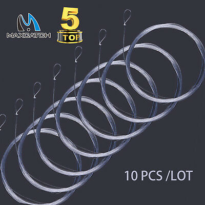 Maxcatch Fly Fishing Tapered Leader 7.5/9/12/15FT 0X-7X with Loop 10pcs