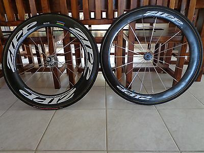 Near New Zipp WheelSet Shimano,Rear Wheel 808, Front 404, Wheel Bags, Wheel set