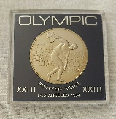 Los Angeles Olympic Games 1984 Souvenir Medal in case