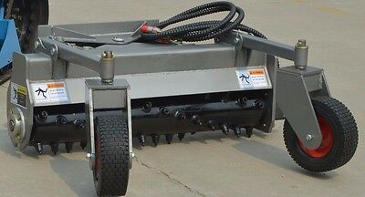 "48""HYD Angle Power HARLEY RAKE Dingo, Boxer, Ditch Witch, Mini Skidsteer Carbide"