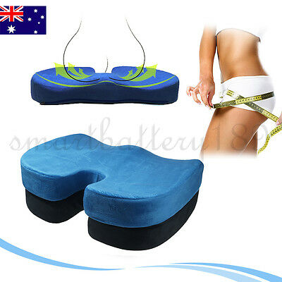New Memory Foam Coccyx Orthoped Car Seat Office Cushion Lumbar Pain Relief AU