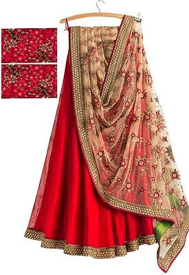Indian Wedding Lehenga Saree Party Wear Bridal Women Ethnic New Sari Designer