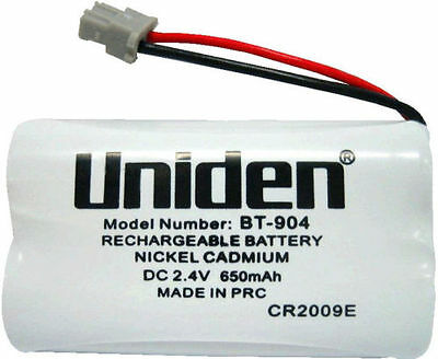 2 X UNIDEN ORIGINAL GENUINE BT904 BT-904s CORDLESS PHONE RECHARGEABLE BATTERY