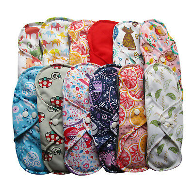 Women's Reusable Cloth Menstrual Sanitary Pads 10X New Babyland