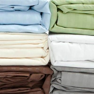 Egyptian Cotton 1000 Thread-Count 4 Piece Sheet Set Solid Colors - 4 US Sizes.!