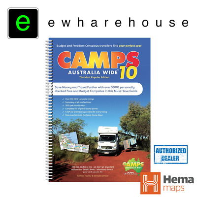 Hema Camps 9 2017 Latest Edition Australia Wide Spiral Bound 4Wd **camps 9**
