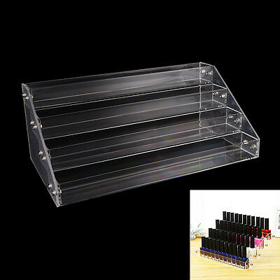 Makeup Nail Polish Display Stand Organizer Clear Holder Rack Acrylic 4 Tiers