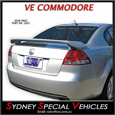 New Rear Wing Boot Spoiler For Ve Commodore Omega - Plastic Ss Berlina Calais
