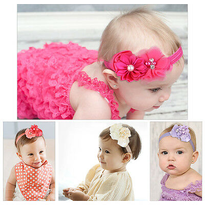 8pcs Toddler Infant Flower Headband Hair Bow Band Hair Accessories For Kids