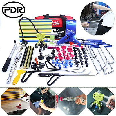 PDR Paintless Hail Repair Dent Puller Lifter Removal Rods Kit Slide Hammer Tools