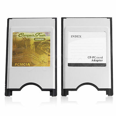 Compact Flash CF to Reader Adapter Cards PC Card PCMCIA for Laptop Notebook