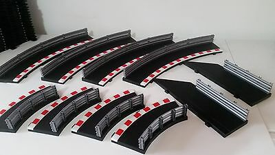 SCALEXTRIC C8225  C8228 RAD 2 INNER/OUTER BORDERS  x4 WITH 2 LEAD IN &OUT  **