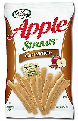 Sensible Portions Apple Straws Cinnamon 1 Ounce (Pack of 24)