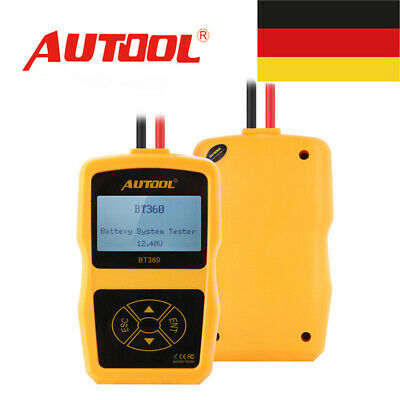 AUTOOL BT360 12V Vehicle Charging System Diagnostic Tool Battery Tester DE Stock
