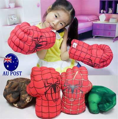 Spider Man Smash Hands Soft Toy Doll Boxing Gloves Big One Pair Funny Cosplay MN