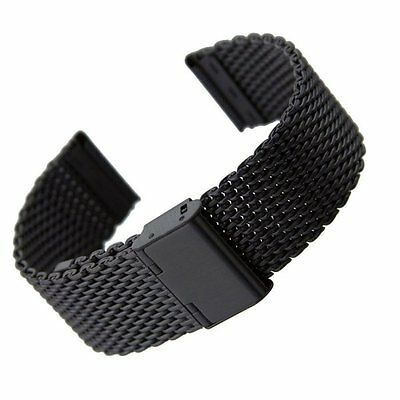Solid Stainless Steel Bracelet Strap Watch Mesh Replacement Band 18 20 22 24 mm