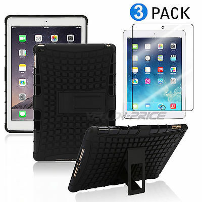 Military Drop Proof iPad Air 2 Armor Case iPad Mini 1 2 3 Stand Defender Cover