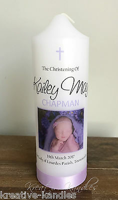 Personalised Christening Candle / Baptism Candle or Naming Day Candle #S6