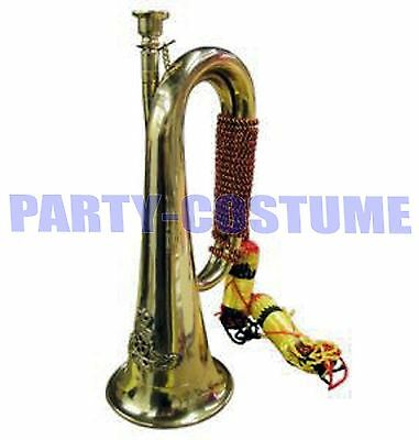 Military Style Solid Brass Bugle Royal Artillery Band New With Tassels