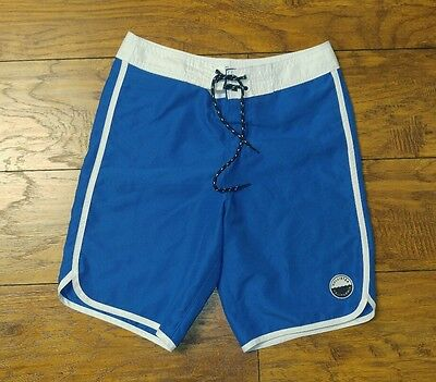 Men's Light Blue and White Casual Swim-Shorts by HOLLISTER  ~~ Size X-Small
