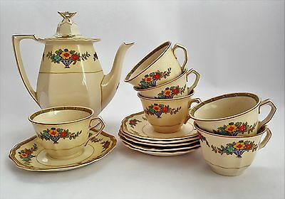 Art Deco Royal Ivory Minerva Coffee/Tea Set Circa 1927. John Maddock & Sons